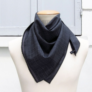 foulard luxe  format carré laine et soie made in France  PhilippeGaber