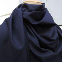 écharpe luxe Paris homme et femme laine cachemire bleu soie marine made in France Philippe Gaber