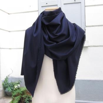 Echarpe luxe nuit d'hiver à Paris made in France laine soie cachemire made in france par  Philippe Gaber