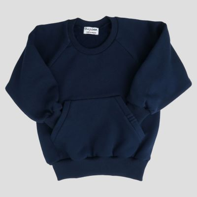 Organic kids sweatshirt made in France with a kangaroo front pocket PhilippeGaber ethical kids fashion made in Paris