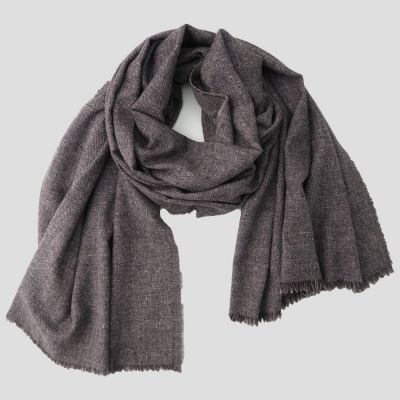 Men's and Women's Parisian mist scarf  weathered grey from virgin wool, cotton & cashmere.  Scarves Made in France by Philippega