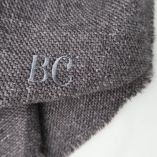 Make a special and personalized luxury gift by embroidering your initials on your philippegaber scarf made in France