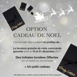Faites brodé vos initiales sur votre écharpe PhilippeGaber pour un cadeau Luxe Made in France monogrammes brodées sur écharpe