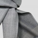Echarpe Luxe double face en laine et soie Prince de Galles PhilippeGaber