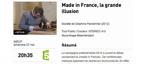 Le Made in France documentaire TV 60 min France 5