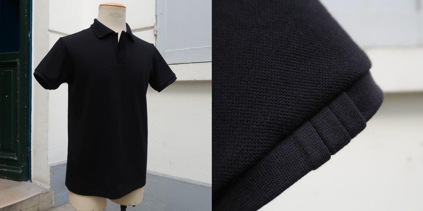 Polos en coton piqué bio fabriqués à Paris par PhilippeGaber