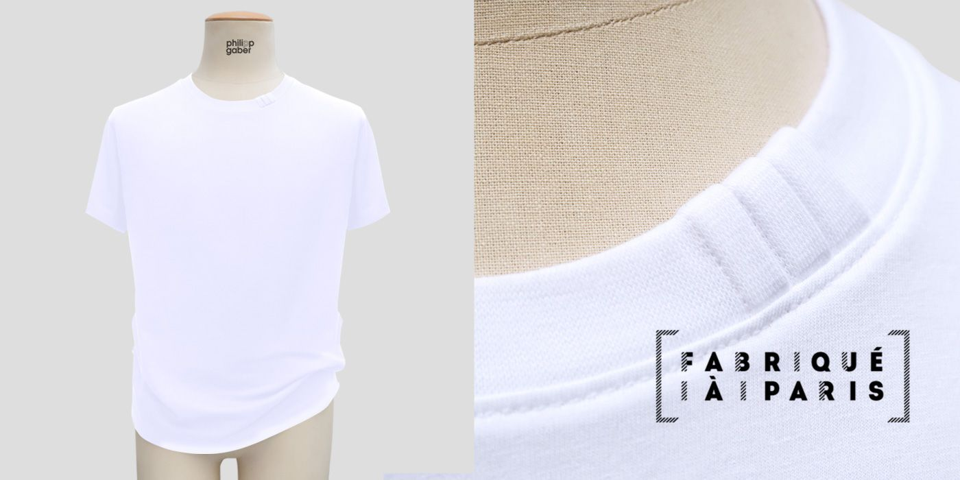 T-shirt bio Made in France ᕦ( ᐛ )ᕤ fabriqué à Paris  | PhilippeGaber