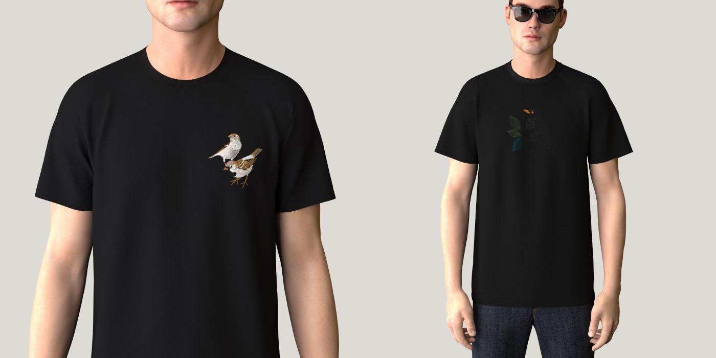 T-shirt bio Made in France ᕦ( ᐛ )ᕤ fabriqué à Paris  | PhilippeGaber