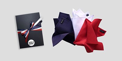 Organic Handkerchiefs made in France and made by Philippe Gaber in Paris