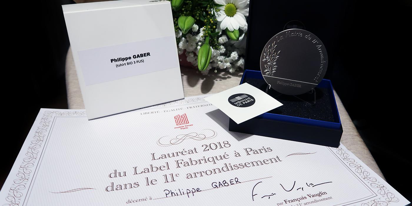 Philippe Gaber lauréat du label fabriqué à PARIS en décembre 2018