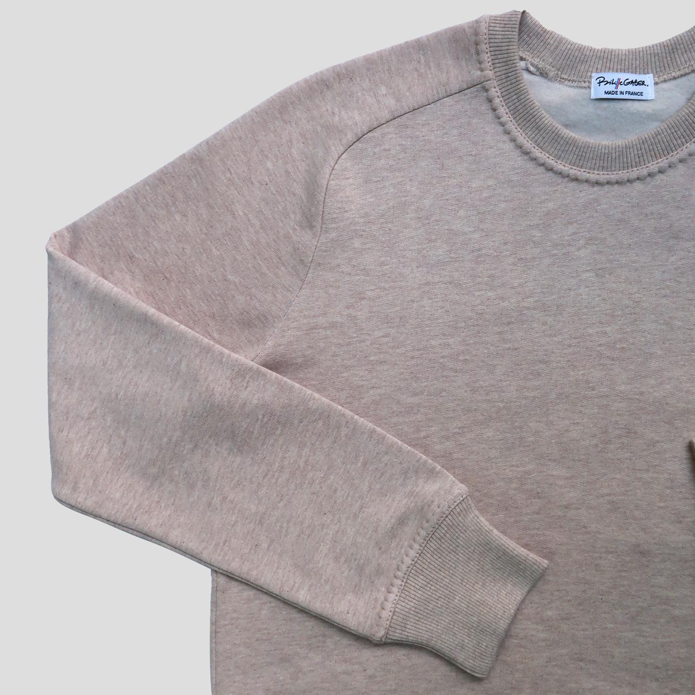 sweat-shirt Made in France et bio, fabriqué à Paris par PhilippeGaber qui propose depuis 2009 des Sweat-shirts bio homme et femme dans un coton biologique certifié Gots