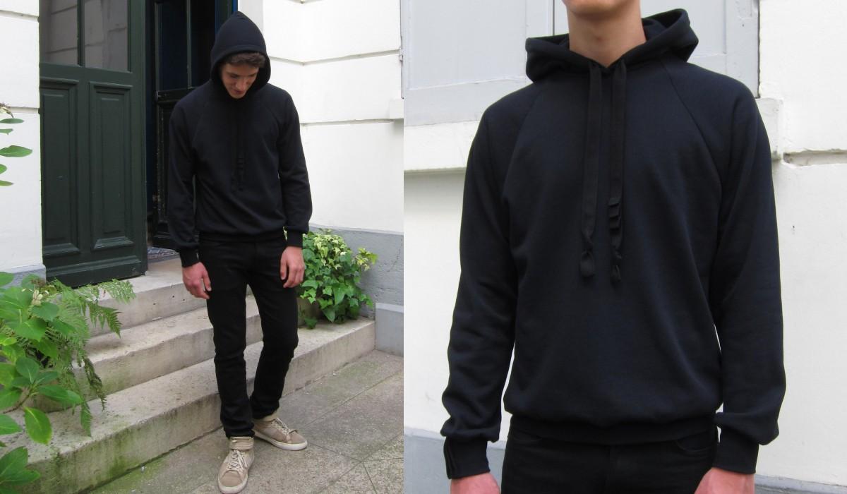 Sweat-shirt coton bio Made in France sweatshirt hoodies pour l'homme et la femme fabriqués à Paris par Philippe Gaber une mode éthique made in France