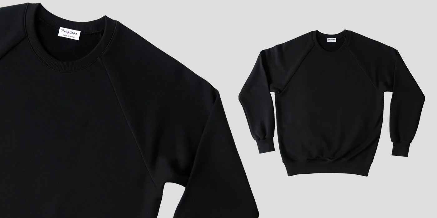 Sweat-shirt Made in France et bio, élégant et chic Philippe Gaber fabrique votre sweat bio depuis son atelier à Paris Sweat homme et Femme Made in France.