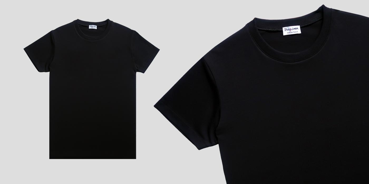 men & women black organic T-shirt bio Made in France