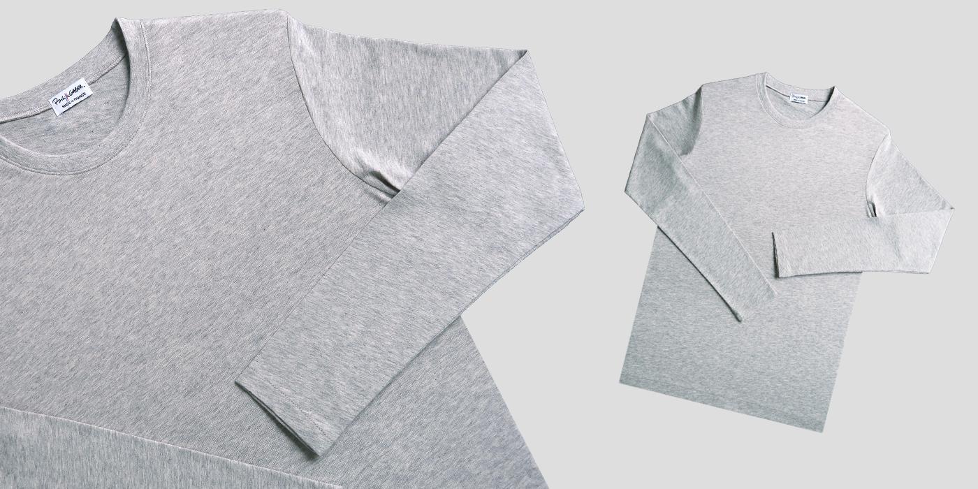 T-shrit bio maches longues t-shirt Made in France et bio, fabriqué à Paris pour homme & femme un tshirt bio en coton biologique Gotstrès doux pour une mode éthique et responsable